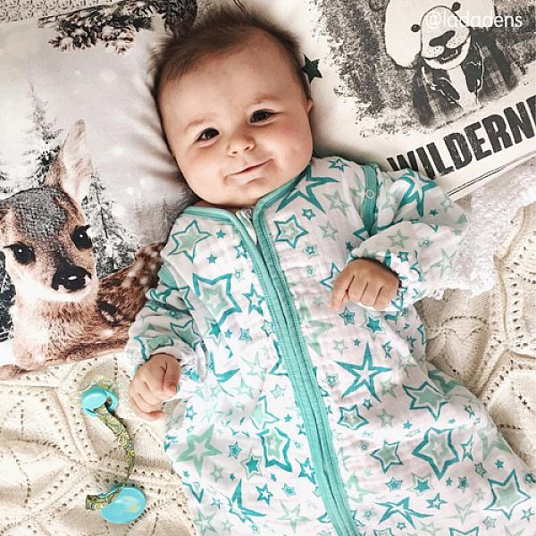 Спальный мешок GlorYes! (9 мес.-2,5 г.) Голубые звездыПеленки<br>&amp;lt;p&amp;gt;Обеспечьте спокойный и безопасный сон вашему малышу с 9 месяцев до 2,5 лет с помощью спального мешка из&amp;lt;strong&amp;gt; нежного муслина&amp;lt;/strong&amp;gt;. Теплый и уютный, он не препятствует естественным движениям малыша, создает комфортную среду для сна&amp;lt;/p&amp;gt;<br><br>&amp;lt;p&amp;gt;&amp;lt;strong&amp;gt;Безопасный сон&amp;lt;/strong&amp;gt;: мешок вместо одеяла, в котором малыш может запутаться и перегреться. Больше не нужно вставать и проверять, не раскрылся ли малыш&amp;lt;/p&amp;gt;<br><br>&amp;lt;p&amp;gt;&amp;lt;strong&amp;gt;Комфортный сон&amp;lt;/strong&amp;gt;: муслин делает мешок дышащим, легким и одновременно теплым. При комнатной температуре малышу спать очень комфортно&amp;lt;/p&amp;gt;<br><br>&amp;lt;p&amp;gt;&amp;lt;strong&amp;gt;Удобно для мамы и папы&amp;lt;/strong&amp;gt;: двойная застежка позволяет легко менять подгузник, не вынимая малыша из мешка&amp;lt;/p&amp;gt;<br><br>&amp;lt;p&amp;gt;&amp;lt;strong&amp;gt;Рукава отстегиваются&amp;lt;/strong&amp;gt;: отстегните рукава, если малыш спит в кофточке, или если в комнате жарко&amp;lt;/p&amp;gt;<br><br>&amp;lt;p&amp;gt;&amp;lt;strong&amp;gt;Длина мешка&amp;lt;/strong&amp;gt;: 92 см (размер 86-110&amp;amp;nbsp;см)&amp;lt;/p&amp;gt;<br><br>&amp;lt;p&amp;gt;&amp;lt;strong&amp;gt;Как ухаживать&amp;lt;/strong&amp;gt;: стирать при температуре не выше 40&amp;amp;deg;С, можно гладить. &amp;lt;strong&amp;gt;Рекомендация&amp;lt;/strong&amp;gt;: чтобы ткань оставалась нежной, не гладьте мешок, сушите в расправленном виде.&amp;lt;/p&amp;gt;<br><br>&amp;lt;p&amp;gt;Что такое муслин? Муслин - это мелкотканый материал из 100% хлопка. Ткань изготавливают из скрученных ниток полотняного переплетения. Она легкая и дышащая, но при этом теплая и уютная. Муслин славится своей прочностью и с каждой стиркой становится только мягче. За счет тонких, но прочных переплетений муслиновый мешок немного тянется и не сковывает