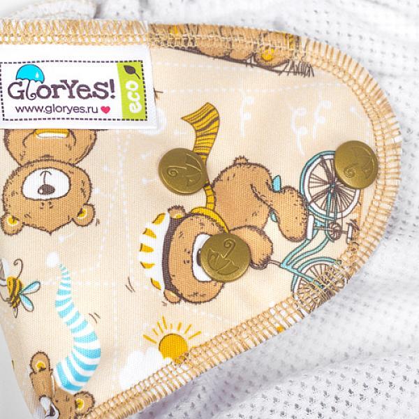 Многоразовый подгузник GlorYes! для плавания Медвежонок 3-18 кгМногоразовые подгузники<br>&amp;lt;p&amp;gt;Каждому маленькому пловцу пригодятся надежные, удобные и красивые многоразовые трусики для плавания GlorYes!, которые можно надеть в бассейн или на пляж!&amp;lt;/p&amp;gt;<br> <br> &amp;lt;p&amp;gt;Подгузники для плавания GlorYes! являются отличной альтернативой одноразовым трусикам&amp;amp;nbsp;для плавания&amp;amp;nbsp;и &amp;lt;strong&amp;gt;сэкономят немало средств молодой семье, так как их можно стирать более 2000 раз&amp;lt;/strong&amp;gt; и использовать снова и снова!&amp;lt;/p&amp;gt;<br> <br> &amp;lt;p&amp;gt;&amp;lt;strong&amp;gt;Мягкие резиночки вокруг ног и на талии&amp;lt;/strong&amp;gt; делают подгузник удобным и позволяют надежно выполнять свою главную функцию &amp;amp;ndash; задерживание &amp;amp;ldquo;покаков&amp;amp;rdquo; во время плавания.&amp;lt;/p&amp;gt;<br> <br> &amp;lt;p&amp;gt;Нужно быстро очистить их во время сеанса купания? Легко! Просто прополощите их под краном с жидким мылом и вновь наденьте на малыша.&amp;lt;/p&amp;gt;<br> <br> &amp;lt;p&amp;gt;- удобные и легкие&amp;lt;br /&amp;gt;<br> - не впитывают воду и не разбухают в воде&amp;lt;br /&amp;gt;<br> - надежно задерживают &amp;amp;ldquo;покаки&amp;amp;rdquo; внутри подгузника&amp;lt;br /&amp;gt;<br> - имеют универсальный регулируемый размер (0-4 года)&amp;lt;br /&amp;gt;<br> - внутри - легкая сетка, пропускающая воду; снаружи - дышащий тонкий слой&amp;lt;br /&amp;gt;<br> - легко стираются и очень быстро сохнут&amp;lt;br /&amp;gt;<br> - большая экономия&amp;lt;br /&amp;gt;<br> - стильные дизайнерские расцветки&amp;lt;br /&amp;gt;<br> - можно надевать как трусики, не расстегивая кнопки&amp;lt;/p&amp;gt;<br> <br> &amp;lt;p&amp;gt;&amp;lt;strong&amp;gt;Как ухаживать? &amp;lt;/strong&amp;gt;&amp;lt;/p&amp;gt;<br> <br> &amp;lt;p&amp;gt;1) можно стирать в машине или руками при температуре не выше 40&amp;amp;ordm; С&amp;lt;br /&amp;gt;<br> 2) допускается щадящая сушка в машине&amp;lt;br