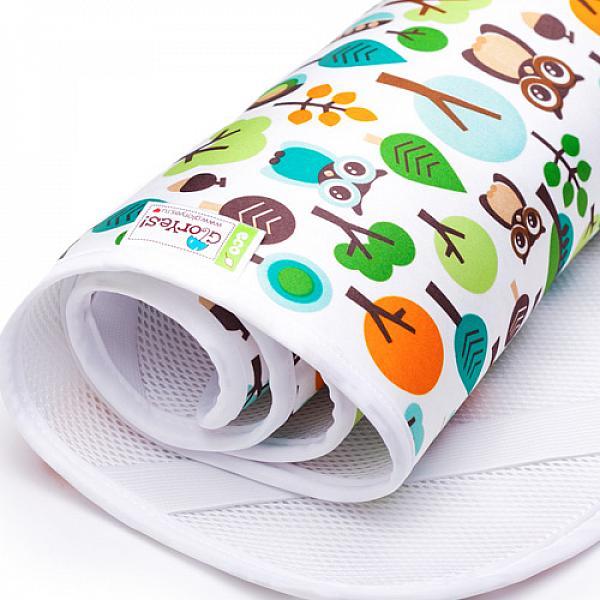 Наматрасник GlorYes! Филин 120х60 смНаматрасники<br>&amp;lt;p&amp;gt;Если ваш малыш спит в кроватке стандартного размера 120x60 (за счет эластичных резинок подойдет и для размера 125x65 см), то лучший способ защитить кровать от влаги &amp;amp;ndash; это непромокаемый дышащий наматрасник GlorYes!&amp;lt;/p&amp;gt;<br><br>&amp;lt;p&amp;gt;Вы заметите, что он &amp;lt;strong&amp;gt;не смещается с матраца&amp;lt;/strong&amp;gt;, позволяет коже малыша &amp;lt;strong&amp;gt;дышать&amp;lt;/strong&amp;gt;, приятный и теплый для кожи и &amp;lt;strong&amp;gt;не создает острых углов&amp;lt;/strong&amp;gt;, как обычные клеенки.&amp;lt;/p&amp;gt;<br><br>&amp;lt;p&amp;gt;&amp;lt;strong&amp;gt;верхний мягкий и дышащий водонепроницаемый слой &amp;lt;/strong&amp;gt;(полиэстер) с красивыми расцветками&amp;lt;br /&amp;gt;<br>&amp;lt;strong&amp;gt;нижний 3D слой против скольжения&amp;lt;/strong&amp;gt; по матрацу&amp;lt;br /&amp;gt;<br>&amp;lt;strong&amp;gt;хорошая вентиляция воздуха&amp;lt;/strong&amp;gt;:&amp;amp;nbsp;кожа малыша не преет&amp;lt;br /&amp;gt;<br>&amp;lt;strong&amp;gt;не сминается&amp;lt;/strong&amp;gt; и не смещается:&amp;amp;nbsp;закрепляется за все 4 стороны матраца эластичными резинками&amp;lt;br /&amp;gt;<br>&amp;lt;strong&amp;gt;не шуршит&amp;lt;/strong&amp;gt; за счет мягкого верхнего слоя&amp;lt;br /&amp;gt;<br>приятный для тела и &amp;lt;strong&amp;gt;нехолодный&amp;lt;/strong&amp;gt;: на него можно положить малыша без одежды во время игры&amp;lt;br /&amp;gt;<br>&amp;lt;strong&amp;gt;очень хорошо отстирывается&amp;lt;/strong&amp;gt; и быстро сохнет&amp;lt;br /&amp;gt;<br>выдерживает более 2000 стирок&amp;amp;nbsp;&amp;lt;br /&amp;gt;<br>&amp;lt;strong&amp;gt;размер&amp;lt;/strong&amp;gt;: 120x60 см (подходит для стандартных кроваток 120х60 и 125х65 см)&amp;lt;/p&amp;gt;<br><br>&amp;lt;p&amp;gt;&amp;lt;strong&amp;gt;Как ухаживать:&amp;lt;/strong&amp;gt;&amp;lt;/p&amp;gt;<br><br>&amp;lt;p&amp;gt;1) максимальная температура стирки: 40&amp;amp;deg;С&amp;lt;br /&amp