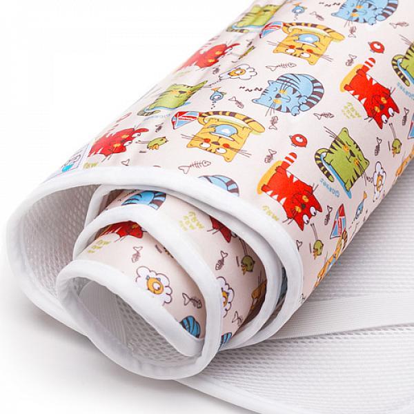 Наматрасник GlorYes! Котята 120х60 смНаматрасники<br>&amp;lt;p&amp;gt;Если ваш малыш спит в кроватке стандартного размера 120x60 (за счет эластичных резинок подойдет и для размера 125x65 см), то лучший способ защитить кровать от влаги &amp;amp;ndash; это непромокаемый дышащий наматрасник GlorYes!&amp;lt;/p&amp;gt;<br><br>&amp;lt;p&amp;gt;Вы заметите, что он &amp;lt;strong&amp;gt;не смещается с матраца&amp;lt;/strong&amp;gt;, позволяет коже малыша &amp;lt;strong&amp;gt;дышать&amp;lt;/strong&amp;gt;, приятный и теплый для кожи и &amp;lt;strong&amp;gt;не создает острых углов&amp;lt;/strong&amp;gt;, как обычные клеенки.&amp;lt;/p&amp;gt;<br><br>&amp;lt;p&amp;gt;&amp;lt;strong&amp;gt;верхний мягкий и дышащий водонепроницаемый слой &amp;lt;/strong&amp;gt;(полиэстер) с красивыми расцветками&amp;lt;br /&amp;gt;<br>&amp;lt;strong&amp;gt;нижний 3D слой против скольжения&amp;lt;/strong&amp;gt; по матрацу&amp;lt;br /&amp;gt;<br>&amp;lt;strong&amp;gt;хорошая вентиляция воздуха&amp;lt;/strong&amp;gt;:&amp;amp;nbsp;кожа малыша не преет&amp;lt;br /&amp;gt;<br>&amp;lt;strong&amp;gt;не сминается&amp;lt;/strong&amp;gt; и не смещается:&amp;amp;nbsp;закрепляется за все 4 стороны матраца эластичными резинками&amp;lt;br /&amp;gt;<br>&amp;lt;strong&amp;gt;не шуршит&amp;lt;/strong&amp;gt; за счет мягкого верхнего слоя&amp;lt;br /&amp;gt;<br>приятный для тела и &amp;lt;strong&amp;gt;нехолодный&amp;lt;/strong&amp;gt;: на него можно положить малыша без одежды во время игры&amp;lt;br /&amp;gt;<br>&amp;lt;strong&amp;gt;очень хорошо отстирывается&amp;lt;/strong&amp;gt; и быстро сохнет&amp;lt;br /&amp;gt;<br>выдерживает более 2000 стирок&amp;amp;nbsp;&amp;lt;br /&amp;gt;<br>&amp;lt;strong&amp;gt;размер&amp;lt;/strong&amp;gt;: 120x60 см (подходит для стандартных кроваток 120х60 и 125х65 см)&amp;lt;/p&amp;gt;<br><br>&amp;lt;p&amp;gt;&amp;lt;strong&amp;gt;Как ухаживать:&amp;lt;/strong&amp;gt;&amp;lt;/p&amp;gt;<br><br>&amp;lt;p&amp;gt;1) максимальная температура стирки: 40&amp;amp;deg;С&amp;lt;br /&am
