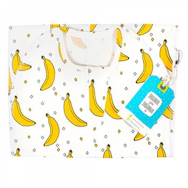 Пеленка-кокон GlorYes! (0-3,5 мес.) БананыПеленки<br>&amp;lt;p&amp;gt;Обеспечьте спокойный сон вашему малышу с рождения до 3,5 месяцев с помощью комфортного, тянущегося спального мешка в виде кокона на замочке.&amp;lt;/p&amp;gt;<br><br>&amp;lt;p&amp;gt;Он облегает тело малыша, словно мамины руки, успокаивает его и сдерживает вздрагивания и движения ручек, при этом не препятствуя движениям ножек.&amp;lt;/p&amp;gt;<br><br>&amp;lt;p&amp;gt;Пеленка-кокон понравится и папам&amp;amp;nbsp;как простой и быстрый способ свободного пеленания!&amp;lt;/p&amp;gt;<br><br>&amp;lt;p&amp;gt;&amp;lt;strong&amp;gt;Безопасность сна&amp;lt;/strong&amp;gt;: малыш&amp;amp;nbsp;не запутается и не перегреется в мешке, как в одеяле&amp;lt;br /&amp;gt;<br>&amp;lt;strong&amp;gt;Удобство при смене подгузника&amp;lt;/strong&amp;gt;: двойная застежка позволяет поменять подгузник, расстегнув только нижнюю часть мешка и не тревожа сон малыша&amp;lt;br /&amp;gt;<br>&amp;lt;strong&amp;gt;Спокойный сон&amp;lt;/strong&amp;gt;: эластичность и идеальная форма мешка создают необходимый комфорт ребенку&amp;lt;br /&amp;gt;<br>&amp;lt;strong&amp;gt;Длина&amp;lt;/strong&amp;gt;: 55 см&amp;lt;/p&amp;gt;<br><br>&amp;lt;p&amp;gt;&amp;lt;strong&amp;gt;Как ухаживать: &amp;lt;/strong&amp;gt;стирать при температуре не выше 40&amp;amp;deg;С, можно гладить&amp;lt;/p&amp;gt;<br><br>&amp;lt;p&amp;gt;&amp;lt;strong&amp;gt;Состав&amp;lt;/strong&amp;gt;: 93% хлопок, 7% спандекс&amp;lt;/p&amp;gt;<br>