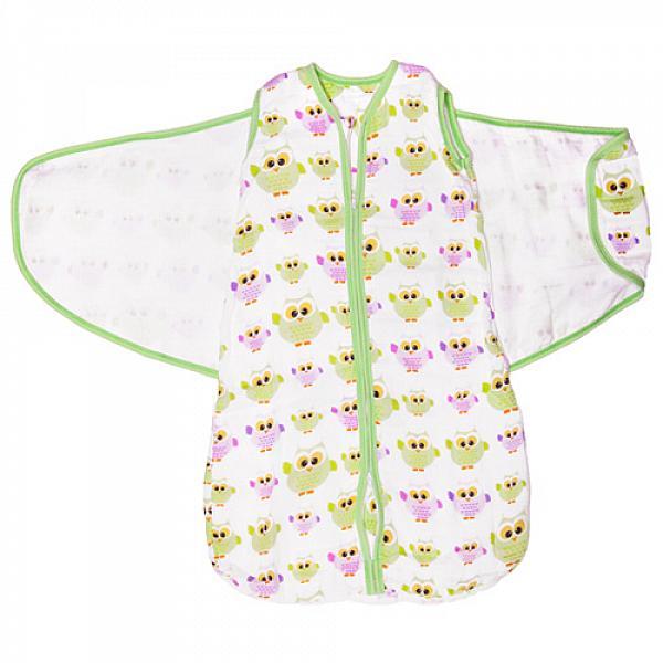 Спальный мешок GlorYes! (3-9 мес.) 2 в 1 СовыПеленки<br>&amp;lt;p&amp;gt;Обеспечьте спокойный и безопасный сон вашему малышу с 3,5 до 9 месяцев с помощью спального мешка из &amp;lt;strong&amp;gt;нежного муслина&amp;lt;/strong&amp;gt;. Мягкий и уютный, он обеспечивает &amp;lt;strong&amp;gt;свободное пеленание&amp;lt;/strong&amp;gt;, не сковывая движений малыша. Спальный мешок понравится и папам как простой и быстрый способ свободного пеленания!&amp;lt;/p&amp;gt;<br><br>&amp;lt;p&amp;gt;&amp;lt;strong&amp;gt;Две функции мешка&amp;lt;/strong&amp;gt;: пеленание и обычный спальный мешок. Чтобы запеленать, оберните малыша &amp;amp;ldquo;крыльями&amp;amp;rdquo; мешка, которые фиксируются липучками&amp;lt;/p&amp;gt;<br><br>&amp;lt;p&amp;gt;&amp;lt;strong&amp;gt;Безопасный сон&amp;lt;/strong&amp;gt;: мешок вместо одеяла, в котором малыш может запутаться и перегреться&amp;lt;/p&amp;gt;<br><br>&amp;lt;p&amp;gt;&amp;lt;strong&amp;gt;Крепкий сон&amp;lt;/strong&amp;gt;: крылья для пеленания &amp;amp;laquo;обнимают&amp;amp;raquo; малыша, успокаивая его и сдерживая рефлекс вздрагивания&amp;lt;/p&amp;gt;<br><br>&amp;lt;p&amp;gt;&amp;lt;strong&amp;gt;Комфортный сон&amp;lt;/strong&amp;gt;: муслин делает мешок дышащим, легким и одновременно теплым. При комнатной температуре малышу спать очень комфортно&amp;lt;/p&amp;gt;<br><br>&amp;lt;p&amp;gt;&amp;lt;strong&amp;gt;Удобно для мамы и папы&amp;lt;/strong&amp;gt;: двойная застежка позволяет легко менять подгузник, не вынимая малыша из мешка&amp;lt;/p&amp;gt;<br><br>&amp;lt;p&amp;gt;&amp;lt;strong&amp;gt;Длина мешка&amp;lt;/strong&amp;gt;: 72 см (размер 62-92 см)&amp;lt;/p&amp;gt;<br><br>&amp;lt;p&amp;gt;&amp;lt;strong&amp;gt;Как ухаживать&amp;lt;/strong&amp;gt;: стирать при температуре не выше 40&amp;amp;deg;С, можно гладить. &amp;lt;strong&amp;gt;Рекомендация&amp;lt;/strong&amp;gt;: чтобы ткань оставалась нежной, не гладьте мешок, сушите в расправленном виде.&amp;lt;/p&amp;gt;<br><br>&amp;lt;p&amp;gt;Что такое муслин? Муслин - это мелкот