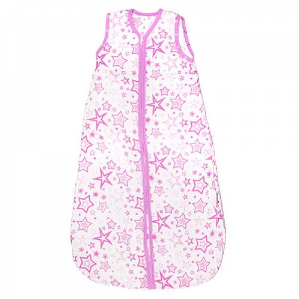 Спальный мешок GlorYes! (9 мес.-2,5 г.) Розовые звездыПеленки<br>&amp;lt;p&amp;gt;Обеспечьте спокойный и безопасный сон вашему малышу с 9 месяцев до 2,5 лет с помощью спального мешка из&amp;lt;strong&amp;gt; нежного муслина&amp;lt;/strong&amp;gt;. Теплый и уютный, он не препятствует естественным движениям малыша, создает комфортную среду для сна&amp;lt;/p&amp;gt;<br><br>&amp;lt;p&amp;gt;&amp;lt;strong&amp;gt;Безопасный сон&amp;lt;/strong&amp;gt;: мешок вместо одеяла, в котором малыш может запутаться и перегреться. Больше не нужно вставать и проверять, не раскрылся ли малыш&amp;lt;/p&amp;gt;<br><br>&amp;lt;p&amp;gt;&amp;lt;strong&amp;gt;Комфортный сон&amp;lt;/strong&amp;gt;: муслин делает мешок дышащим, легким и одновременно теплым. При комнатной температуре малышу спать очень комфортно&amp;lt;/p&amp;gt;<br><br>&amp;lt;p&amp;gt;&amp;lt;strong&amp;gt;Удобно для мамы и папы&amp;lt;/strong&amp;gt;: двойная застежка позволяет легко менять подгузник, не вынимая малыша из мешка&amp;lt;/p&amp;gt;<br><br>&amp;lt;p&amp;gt;&amp;lt;strong&amp;gt;Рукава отстегиваются&amp;lt;/strong&amp;gt;: отстегните рукава, если малыш спит в кофточке, или если в комнате жарко&amp;lt;/p&amp;gt;<br><br>&amp;lt;p&amp;gt;&amp;lt;strong&amp;gt;Длина мешка&amp;lt;/strong&amp;gt;: 92 см (размер 86-110&amp;amp;nbsp;см)&amp;lt;/p&amp;gt;<br><br>&amp;lt;p&amp;gt;&amp;lt;strong&amp;gt;Как ухаживать&amp;lt;/strong&amp;gt;: стирать при температуре не выше 40&amp;amp;deg;С, можно гладить. &amp;lt;strong&amp;gt;Рекомендация&amp;lt;/strong&amp;gt;: чтобы ткань оставалась нежной, не гладьте мешок, сушите в расправленном виде.&amp;lt;/p&amp;gt;<br><br>&amp;lt;p&amp;gt;Что такое муслин? Муслин - это мелкотканый материал из 100% хлопка. Ткань изготавливают из скрученных ниток полотняного переплетения. Она легкая и дышащая, но при этом теплая и уютная. Муслин славится своей прочностью и с каждой стиркой становится только мягче. За счет тонких, но прочных переплетений муслиновый мешок немного тянется и не сковывает