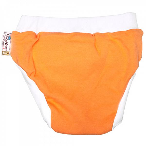 Хлопковые трусики для приучения к горшку GlorYes! L Апельсин 14-20 кгТрусики<br>&amp;lt;p&amp;gt;Трусики для приучения к горшку из хлопка &amp;amp;ndash; это ваш секретный способ приучить малыша к горшку и одновременно защитить мебель и одежду от влаги.&amp;amp;nbsp;Трусики рекомендуются&amp;amp;nbsp;для детей от 1,5 до 3-4 лет, которые уже начали ходить на горшок самостоятельно, но периодически забывают это сделать вовремя.&amp;lt;/p&amp;gt;<br><br>&amp;lt;p&amp;gt;&amp;lt;strong&amp;gt;максимально схожи с обычными трусиками&amp;lt;/strong&amp;gt; - малыш будет думать, что на нем надеты трусики, которые протекут и в которых будет неприятно&amp;lt;br /&amp;gt;<br>&amp;lt;strong&amp;gt;ткани&amp;lt;/strong&amp;gt;: внутренний и внешний слои из хлопка, тонкий и дышащий промежуточный слой с водонепроницаемой мембраной и впитывающий слой из микрофибры в области ластовицы между ног&amp;lt;br /&amp;gt;<br>&amp;lt;strong&amp;gt;впитывают ограниченное количество влаги&amp;lt;/strong&amp;gt;, то есть ими нельзя заменить подгузник&amp;lt;br /&amp;gt;<br>&amp;lt;strong&amp;gt;размер&amp;lt;/strong&amp;gt;: L (от 14 до 20 кг)&amp;lt;br /&amp;gt;<br>&amp;lt;strong&amp;gt;натуральные ткани&amp;lt;/strong&amp;gt; (используется 100 % хлопок)&amp;lt;br /&amp;gt;<br>&amp;lt;strong&amp;gt;экономные&amp;lt;/strong&amp;gt;: можно стирать и использовать много раз&amp;lt;br /&amp;gt;<br>&amp;lt;strong&amp;gt;легко стираются&amp;lt;/strong&amp;gt; и&amp;amp;nbsp;выдерживают более 2000 стирок&amp;lt;br /&amp;gt;<br>&amp;lt;strong&amp;gt;эластичные резинки &amp;lt;/strong&amp;gt;вокруг ножек и талии&amp;lt;/p&amp;gt;<br><br>&amp;lt;p&amp;gt;&amp;lt;strong&amp;gt;Как ухаживать? &amp;lt;/strong&amp;gt;&amp;lt;/p&amp;gt;<br><br>&amp;lt;p&amp;gt;1) постирайте перед использованием, максимальная впитываемость приобретается после 3-4 стирок&amp;lt;br /&amp;gt;<br>2) стирать при температуре не выше 40&amp;amp;deg;С&amp;lt;br /&amp;gt;<br>3) стирать со средством без содержания мыла&amp;lt;br /&amp;gt