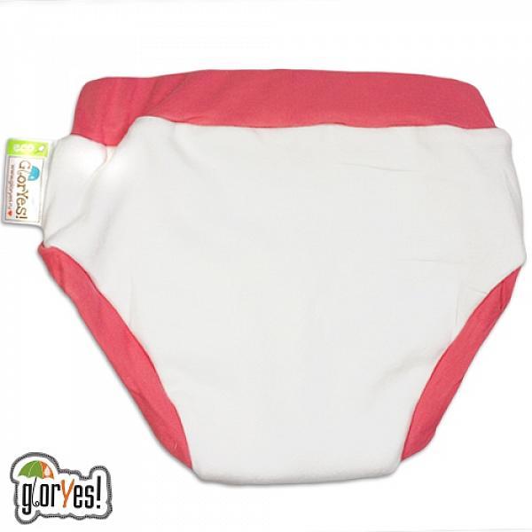 Хлопковые трусики для приучения к горшку GlorYes! S/M Клубничка 10-16 кгТрусики<br>&amp;lt;p&amp;gt;Трусики для приучения к горшку из хлопка &amp;amp;ndash; это ваш секретный способ приучить малыша к горшку и одновременно защитить мебель и одежду от влаги.&amp;amp;nbsp;Трусики рекомендуются&amp;amp;nbsp;для детей от 1,5 до 3-4 лет, которые уже начали ходить на горшок самостоятельно, но периодически забывают это сделать вовремя.&amp;lt;/p&amp;gt;<br><br>&amp;lt;p&amp;gt;&amp;lt;strong&amp;gt;максимально схожи с обычными трусиками&amp;lt;/strong&amp;gt; - малыш будет думать, что на нем надеты трусики, которые протекут и в которых будет неприятно&amp;lt;br /&amp;gt;<br>&amp;lt;strong&amp;gt;ткани&amp;lt;/strong&amp;gt;: внутренний и внешний слои из хлопка, тонкий и дышащий промежуточный слой с водонепроницаемой мембраной и впитывающий слой из микрофибры в области ластовицы между ног&amp;lt;br /&amp;gt;<br>&amp;lt;strong&amp;gt;впитывают ограниченное количество влаги&amp;lt;/strong&amp;gt;, то есть ими нельзя заменить подгузник&amp;lt;br /&amp;gt;<br>&amp;lt;strong&amp;gt;размер&amp;lt;/strong&amp;gt;: S/M&amp;amp;nbsp;(от 10&amp;amp;nbsp;до 16&amp;amp;nbsp;кг). Обхват вокруг ножек около 21 см, расстояние боковины от талии до ножки 8,5 см, вокруг талии около 40 см.&amp;lt;br /&amp;gt;<br>&amp;lt;strong&amp;gt;натуральные ткани&amp;lt;/strong&amp;gt; (используется 100 % хлопок)&amp;lt;br /&amp;gt;<br>&amp;lt;strong&amp;gt;экономные&amp;lt;/strong&amp;gt;: можно стирать и использовать много раз&amp;lt;br /&amp;gt;<br>&amp;lt;strong&amp;gt;легко стираются&amp;lt;/strong&amp;gt; и&amp;amp;nbsp;выдерживают более 2000 стирок&amp;lt;br /&amp;gt;<br>&amp;lt;strong&amp;gt;эластичные резинки &amp;lt;/strong&amp;gt;вокруг ножек и талии&amp;lt;/p&amp;gt;<br><br>&amp;lt;p&amp;gt;Трусики не рекомендуются&amp;amp;nbsp;на сон ночью и днем, используются для небольшого объема жидкости. Если требуется впитать большой объем, рекомендуем использовать &amp;lt;a href=http://gloryes.ru/diapers