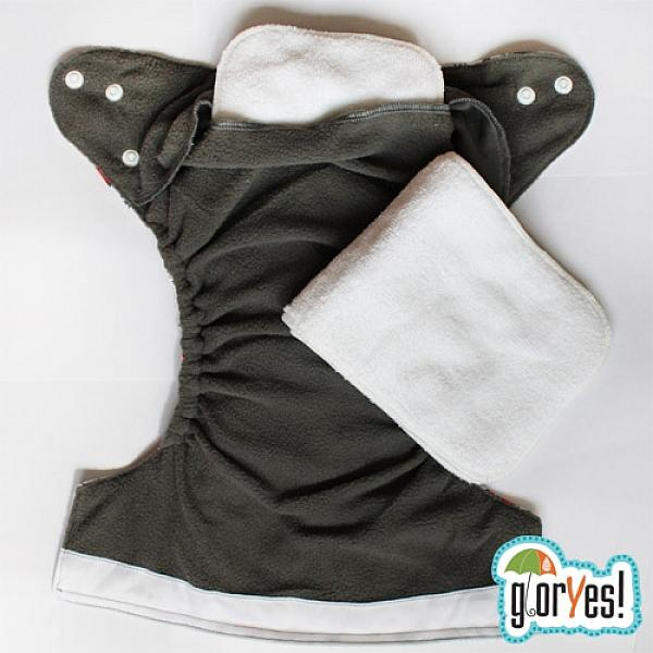 Многоразовый подгузник GlorYes! OPTIMA Модница 3-15 кг + два вкладыша от GlorYes!