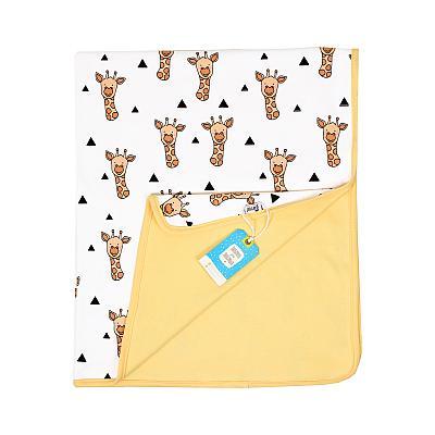 Трикотажный плед GlorYes! Жирафы 96х85 см