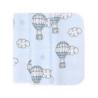 Набор платочков из муслина GlorYes! Голубые воздушные шары, 3 шт.