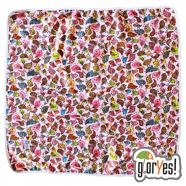 Купить Непромокаемая пеленка GlorYes! Птички 80х68 см