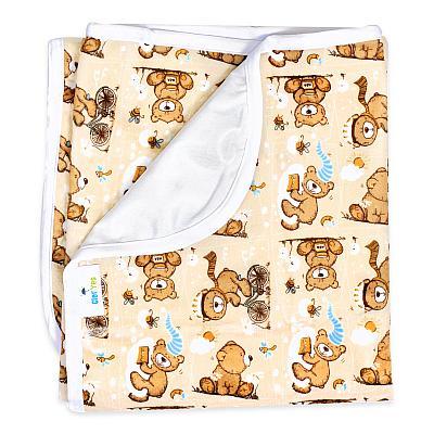 Непромокаемая пеленка GlorYes! Медвежонок 80х68 см