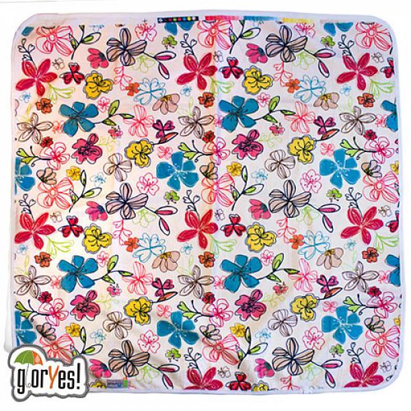 Купить Непромокаемая пеленка GlorYes! Цветы 80х68 см, GlorYes!