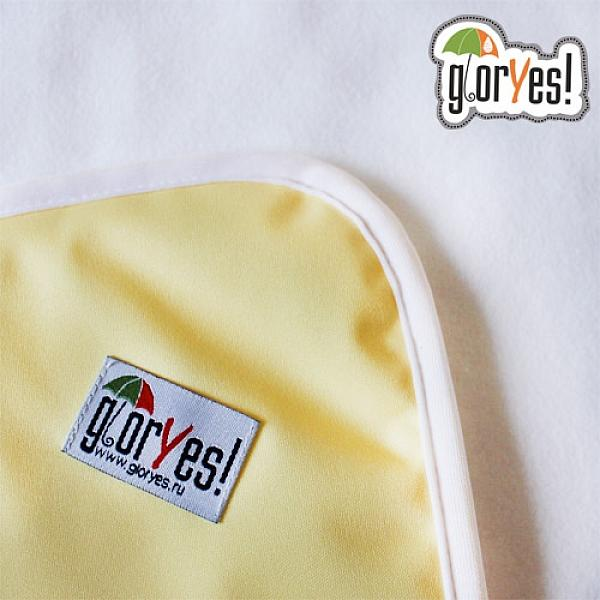 Впитывающая пеленка GlorYes! Нежно-желтая 120х100 см от GlorYes!