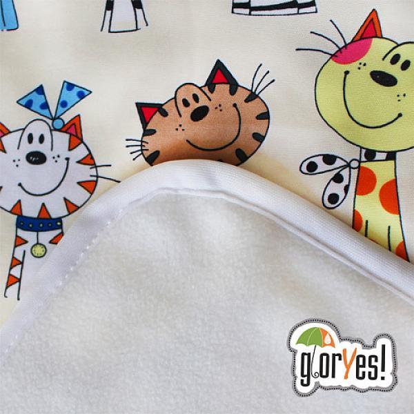 Купить Впитывающая пеленка GlorYes! Коты 80х68 см
