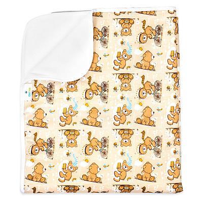 Впитывающая пеленка GlorYes! Медвежонок 80х68 см