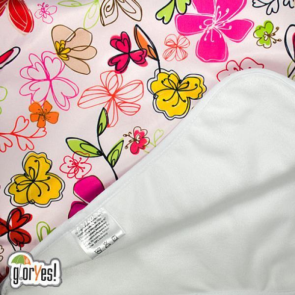 Впитывающая пеленка GlorYes! Цветы 80х68 см