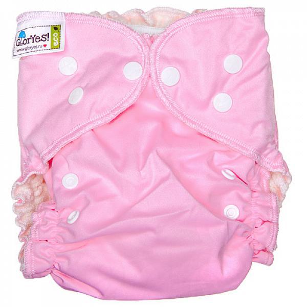 Купить Многоразовый подгузник GlorYes! для приучения к горшку NEW Розовый 3-18 кг + два вкладыша