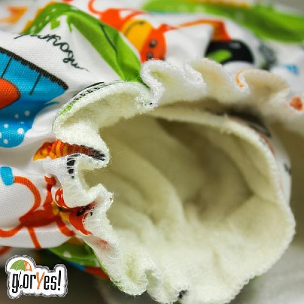 Многоразовый подгузник GlorYes! для приучения к горшку NEW Сафари 3-18 кг + два вкладыша от GlorYes!