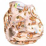 Многоразовый подгузник GlorYes! для приучения к горшку NEW Медвежонок 3-18 кг + два вкладыша