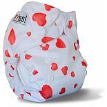 Многоразовый подгузник GlorYes! для приучения к горшку Розовые сердечки 3-15 кг + два вкладыша