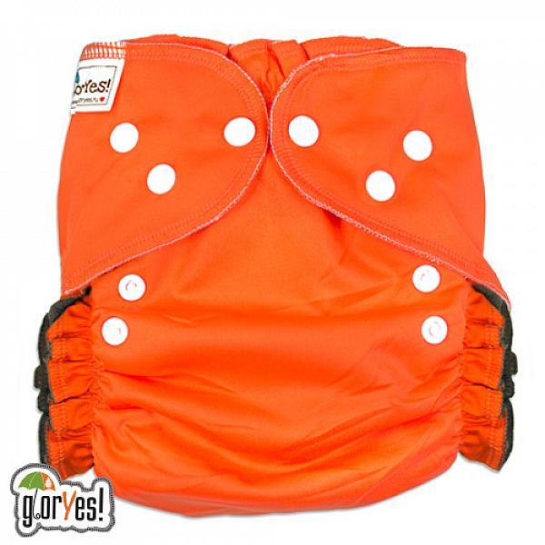 Купить Многоразовый подгузник GlorYes! OPTIMA NEW Апельсин 3-18 кг + два вкладыша