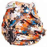 Многоразовый подгузник GlorYes! OPTIMA NEW Пазл 3-18 кг + два вкладыша