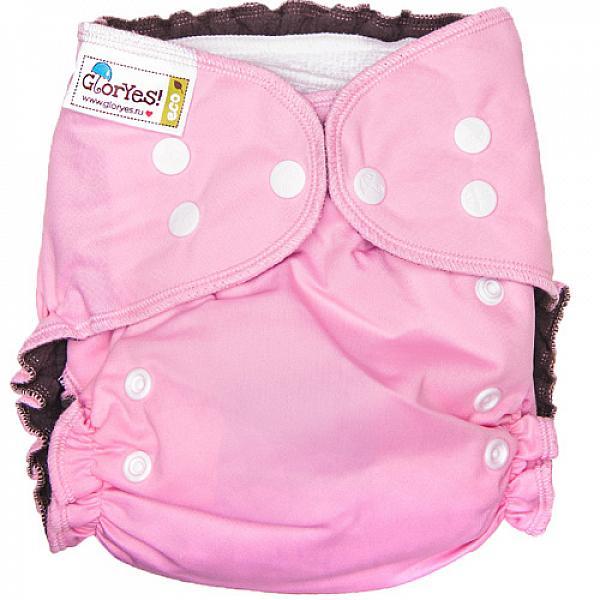 Купить Многоразовый подгузник GlorYes! OPTIMA NEW Розовый 3-18 кг + два вкладыша