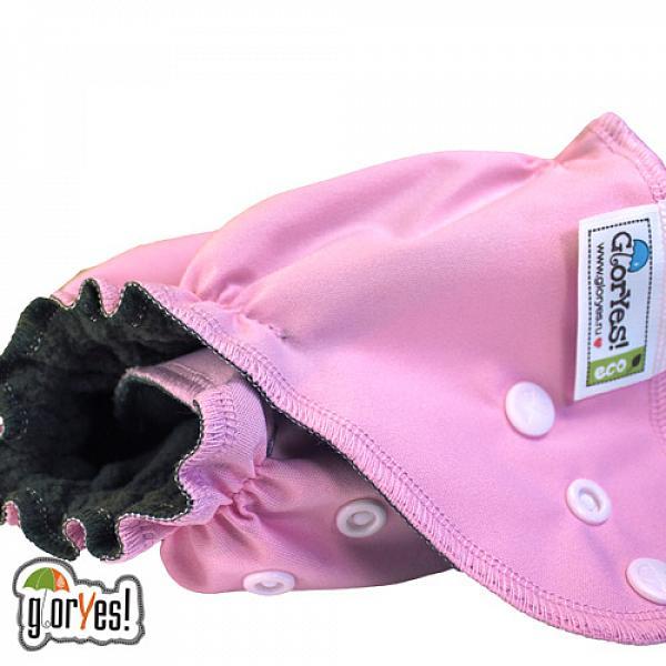 Многоразовый подгузник GlorYes! OPTIMA NEW Розовый 3-18 кг + два вкладыша от GlorYes!