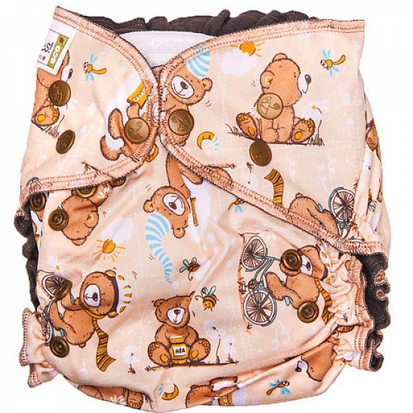 Купить Многоразовый подгузник GlorYes! OPTIMA NEW Медвежонок 3-18 кг + два вкладыша, GlorYes!