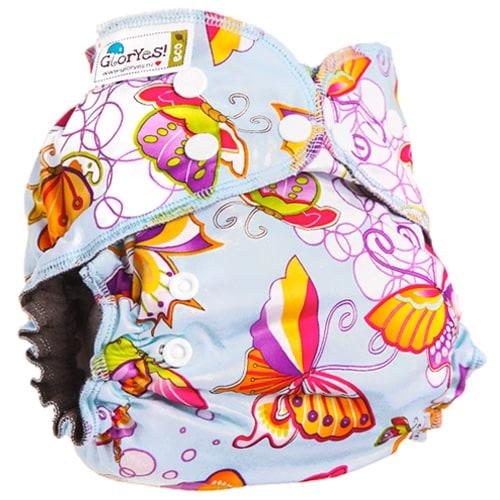 c885876e8dee Многоразовый подгузник GlorYes! OPTIMA NEW Бабочки 3-18 кг + два ...