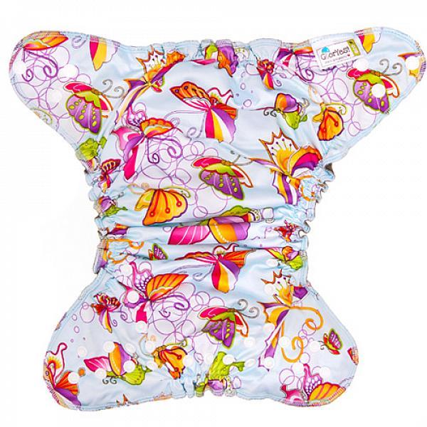 Многоразовый подгузник GlorYes! OPTIMA NEW Бабочки 3-18 кг + два вкладыша от GlorYes!