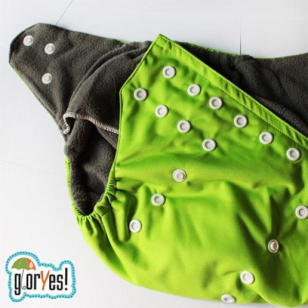 Многоразовый подгузник GlorYes! OPTIMA Зеленый 3-15 кг + два вкладыша от GlorYes!