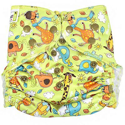 Многоразовый подгузник GlorYes! для плавания Жирафы 3-18 кг