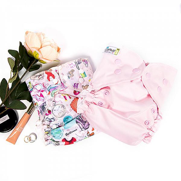Купить Многоразовый подгузник GlorYes! CLASSIC+ Розовый 3-18 кг + два вкладыша