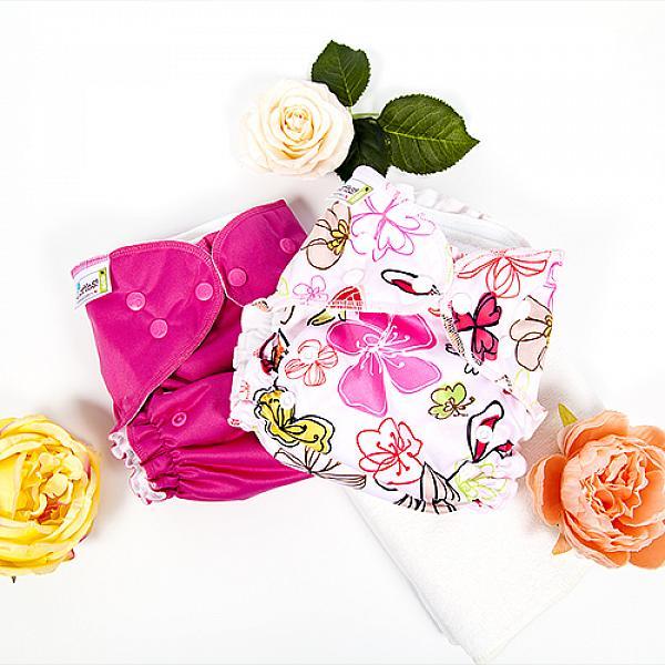 Купить Многоразовый подгузник GlorYes! CLASSIC+ Малина 3-18 кг + два вкладыша, GlorYes!