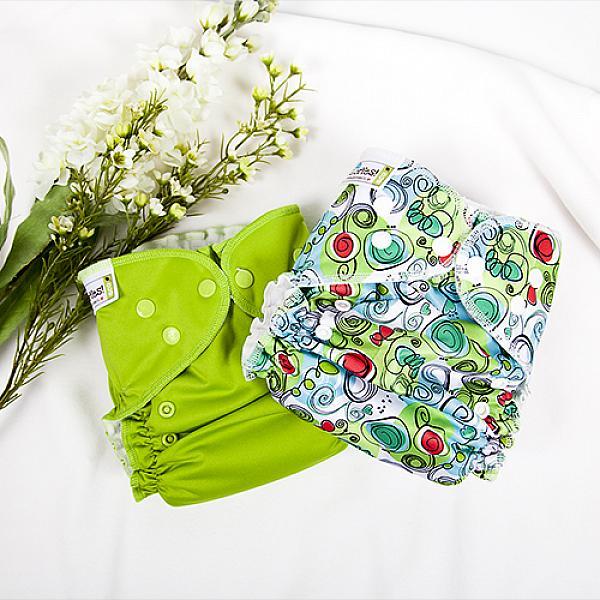 Купить Многоразовый подгузник GlorYes! CLASSIC+ Весенний 3-18 кг + два вкладыша