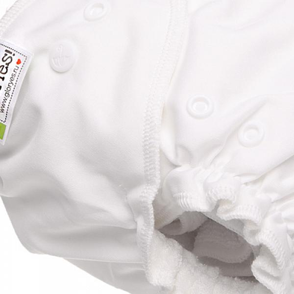 Многоразовый подгузник GlorYes! CLASSIC+ Белый 3-18 кг + два вкладыша от GlorYes!