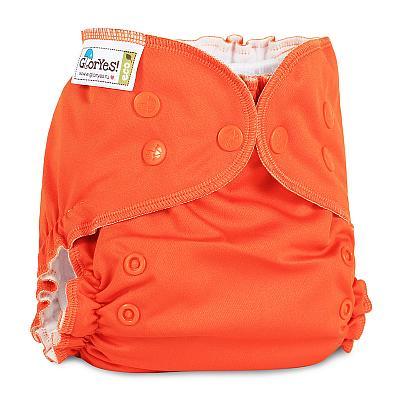 Многоразовый подгузник GlorYes! CLASSIC+ Апельсин 3-18 кг + два вкладыша