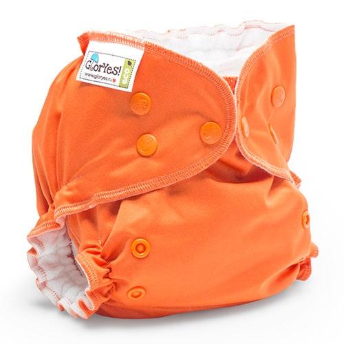 4abee682d65f Многоразовый подгузник GlorYes! CLASSIC+ Апельсин 3-18 кг + два вкладыша