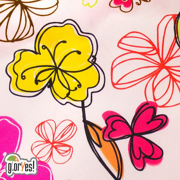 Многоразовый подгузник GlorYes! CLASSIC+ Цветы 3-18 кг + два вкладыша от GlorYes!