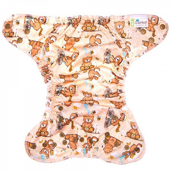 Многоразовый подгузник GlorYes! CLASSIC+ Медвежонок 3-18 кг + два вкладыша от GlorYes!