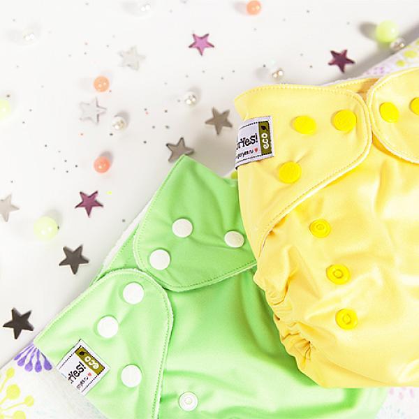 Многоразовый подгузник GlorYes! CLASSIC Нежно-желтый 3-15 кг + один вкладыш  - купить со скидкой