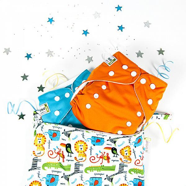 Купить Многоразовый подгузник GlorYes! CLASSIC Апельсин 3-15 кг + один вкладыш