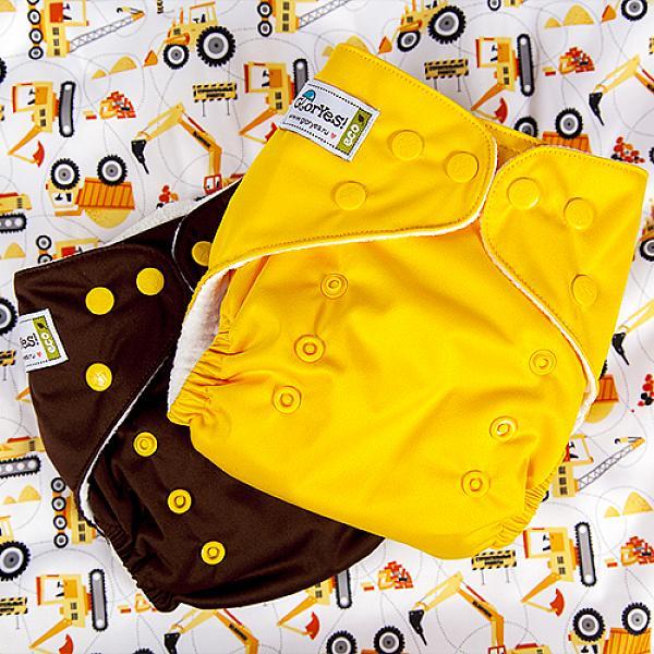 Многоразовый подгузник GlorYes! CLASSIC Банан 3-15 кг + один вкладыш от GlorYes!