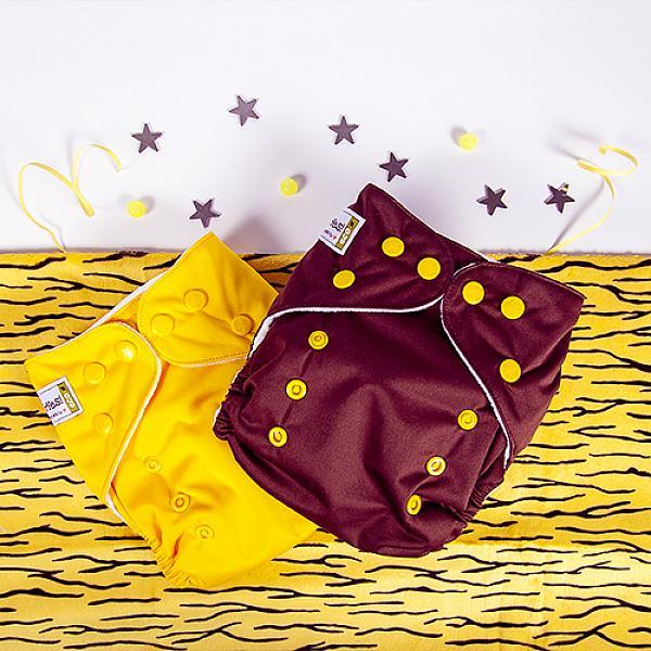 Купить Многоразовый подгузник GlorYes! CLASSIC Шоколадный 3-15 кг + один вкладыш, GlorYes!