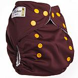 Многоразовый подгузник GlorYes! CLASSIC Шоколадный 3-15 кг + один вкладыш