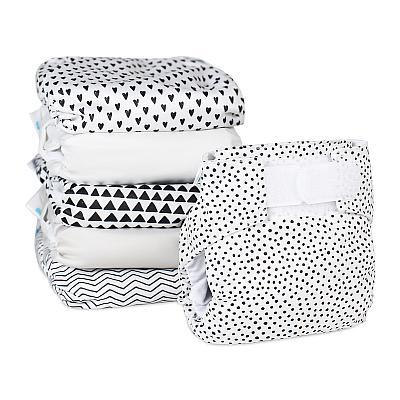 Набор многоразовых подгузников для новорожденных GlorYes! Модник с пеленок