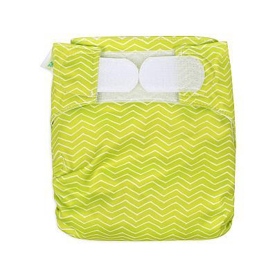 Многоразовый подгузник для новорожденных GlorYes! Зеленые зигзаги all-in-one