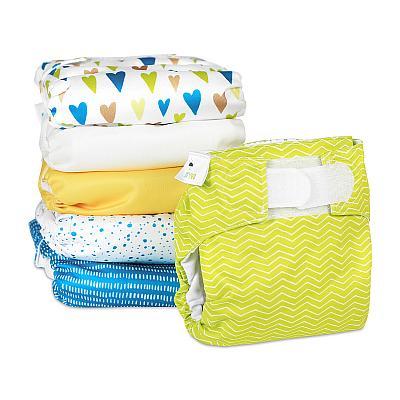 Набор многоразовых подгузников для новорожденных GlorYes! Счастье в красках