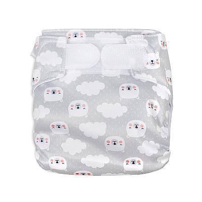 Многоразовый подгузник для новорожденных GlorYes! Воздушные мишки all-in-one