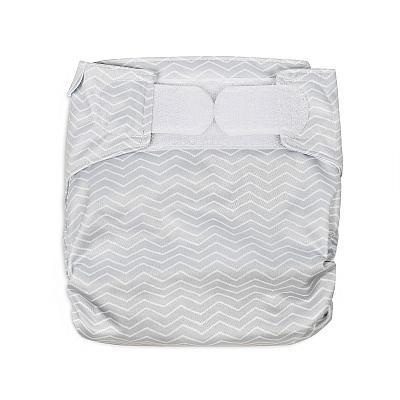Многоразовый подгузник для новорожденных GlorYes! Серый зигзаг all-in-one